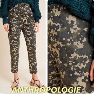 Anthropologie NWT camo girly high rise pants Amadi